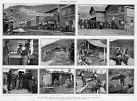 GOLD RUSH MINERS CAMP KLONDIKE COUNTRY QUEST FOR GOLD AND LIFE OF THE ARGONAUTS