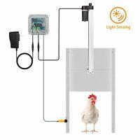 Light Sensing Full Aluminum Doors RUN-CHICKEN Model T40 RED Automatic Chicken Coop Door Evening and Morning Delayed Opening Timer