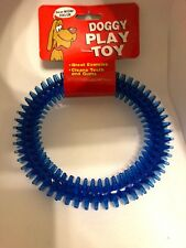 Bow Wow Value Doggy Play Toy Pet Spiked Rubber Ring Dog Teething Play pet Toy