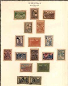 Azerbaijan USSR 1919-22 MH + USED Used Imperf.+Perf. sets,HCV