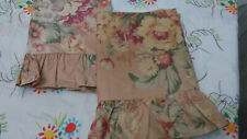 RALPH LAUREN EVELYN PEACH 100% COTTON-CHINTZ STANDARD PILLOW SHAMS-GORGEOUS