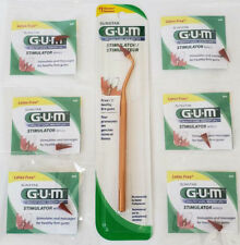 1 GUM Stimulator Handle & 6 Refill Tips #600pyc Massager care BEST PRICE ONLINE!