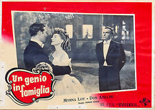 FOTOBUSTA 1, UN GENIO IN FAMIGLIA So Goes My Love MIRNA LOY, DON AMECHE POSTER