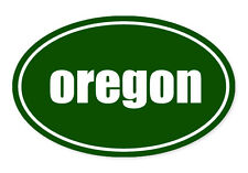 "Oregon State Green Oval car window bumper sticker decal 5"" x 3"""