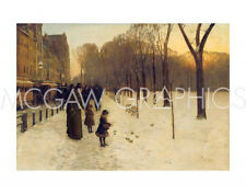 "HASSAM CHILDE-BOSTON COMMON AT TWILIGHT,1885-86-Artwork Reproduc 11"" x 14""(1330"