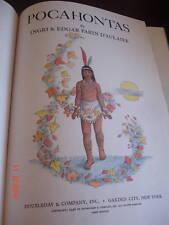 1st ED POCAHONTAS BOOK PARIN d'AULAIRE 1946 JAMESTOWN