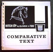 1966 Oliver Dealers Combine Comparitive Text Sales Manual Books