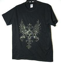 Top Informal De Caballeros Negro T-shirt Tamaño M Algodón Gildan Softstyle