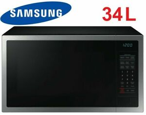 Samsung 34L 1000W Stainless Steel Microwave Oven Ceramic Interior - ME6124ST-1