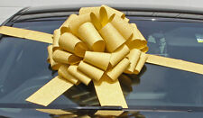 "MEGA BIG CAR BOW (16"") for Cars, Large Birthday & XMAS Gifts - GLITTER GOLD"