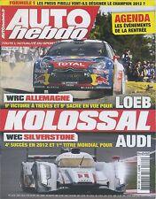 AUTO HEBDO n°1872 du 29 AOÜT 2012 WEC 6h SILVERSTONE WRC ALLEMAGNE
