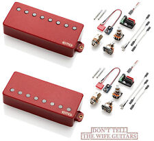 Emg 57-8H + 66-8H Red 8 String Humbucker Active Solderless Guitar Pickup Set