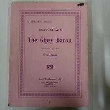 VOCAL SCORE IL BARONE zingaro Strauss, WEINBERGER