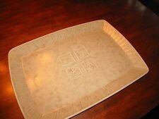 Pfaltzgraff Naturewood SERENITY SAND tan rectangular serving PLATTER 16 X 11 1/2