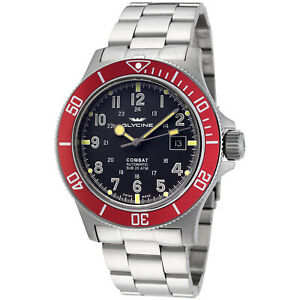 Glycine Men's 3908.106AT.R1.MB Combat Sub Automatic 42mm Gray Dial - GL0078