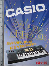 Aufkleber Sticker Casio Sampling Keyboard SK-5 (3770)