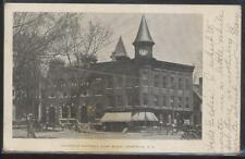 Postcard NEW YORK NY  Granville National Bank w/Clock Tower 1906