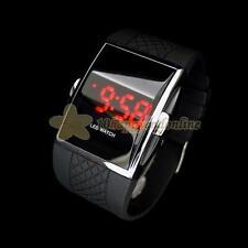 Mens Womens Luxury Sport LED Digital Silicone Wrist Watch Military Wristwatch