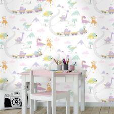 Holden Dino Town Dinosaur Pattern Childrens Wallpaper Kids Cartoon Train 12532