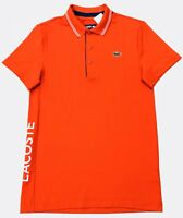 LACOSTE MEN'S SPORT LETTERING STRETCH TECHNICAL JERSEY GOLF POLO SHIRT