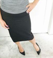Wool Blend Straight, Pencil Regular Striped Skirts for Women