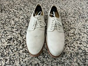 Cole Haan South Street Plain Toe Cream Suede Oxfords Shoes Mens' Sz 11 (C12053)