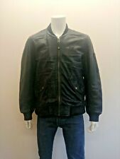 SCHOTT MA-1 Style 100% Leather Flying Jacket in Black size XL