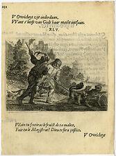 Antique Print-EMBLEM-POWER-RULER-HUNTER-WOLF-45-Savery-Veen-1642