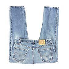 VTG Levis 505 Jeans Mens 36x29 Regular Fit Steaight Leg Made USA Blue Denim (E)