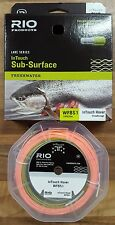 Rio Lake Series InTouch Hover Sub-Surface Fly Line WF6S1 Olive/Orange Fishing