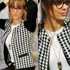 Fashion Women Plaid Zipper Casual Blazer Suit Jacket Coat Outwear Short Coat