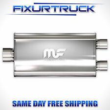 """MAGNAFLOW Stainless Steel Muffler With Single 3"""" Inlet Dual 2.5"""" Outlet 12588"""