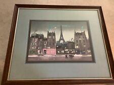 Tour Eiffel la Nuit Michel Delacroix Signed lithograph