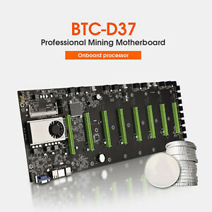 BTC-D37 Mining Machine Accessories Motherboard CPU Group 8 Video Card Slots
