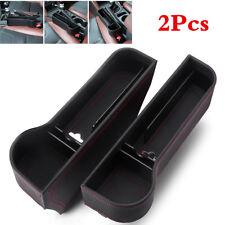 2Pcs Car Storage Box Organizer Seat Side Gap Case Cup Holder Coin Box PU Leather
