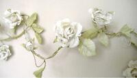 ROSE GARLAND CREAM FLOWER - WEDDING DECORATION SHABBY CHIC 5ft 150cm