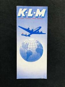 KLM AIRLINE Rare ORIGINAL ART DECO BROCHURE 1947 Lockheed Constellation Airplane