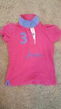 LITTLE JOULES pink BRANDED APPLIQUE polo top SHIRT SIZE 8