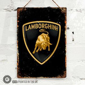LAMBORGHINI Metal Wall Sign Pub Bar Kitchen Home Mancave Garage Shed f1 super