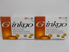 2X GSL Ginko Biloba 30ct. (60mg.) Dietary Supplement Made In USA Exp. 02/2020