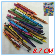 180 X CRAYON CRAYONS WITH FREE SHARPENER - ASSORTED VIBRANT COLORS KID CRAFT FD