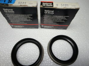 2 Wheel Seals National 5121 fit Mopars made in USA
