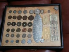 Coin Collection Japan Coins Large Gold Silver History Japanese Old Coin Framed