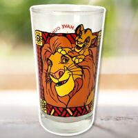 Vintage RARE Disney's The Lion King Collectible Promo Juice Glass Simba Mufasa