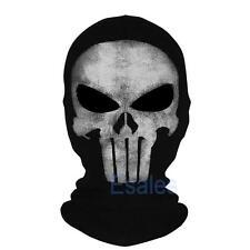 The Punisher Skull Balaclava Mask Ghost Cosplay Face Hood Halloween CS Biker