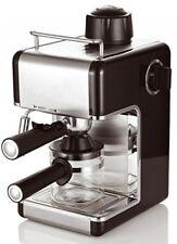 4 Cup Steam Espresso Cappuccino Latte Coffee Maker Machine Stainless Steel Black