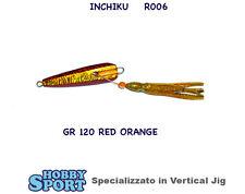 INCHIKU  JIG SALTY RUBBER R006 - 120 GR  - RED GOLD - VINCENT