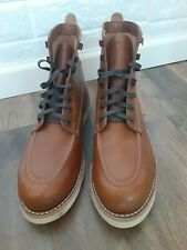 Wolverine - 1000 Mile - Louis Tan Leather Wedge Work Boots W40411 Us 12 M