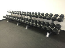 SPARTAN RUBBER HEX DUMBBELL SET 55-100 LBS (NEW IN BOX)