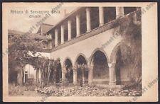 NOVARA SAN NAZZARO SESIA 10 CHIOSTRI ABBAZIA Cartolina VIAGGIATA 1928